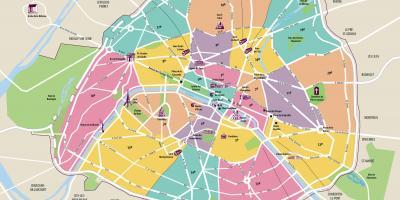 Mapa De Disneyland Paris Para Imprimir.El Mapa De Paris Mapas De Paris Ile De France Francia